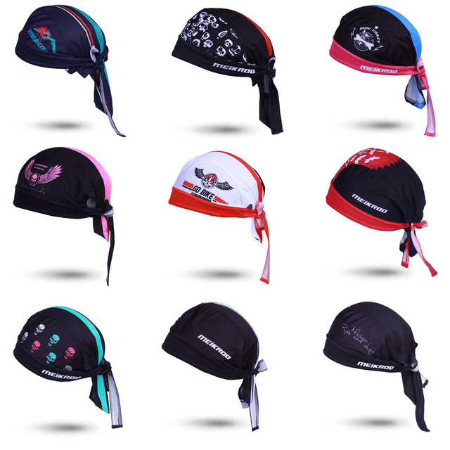 Cycling Cap Sweatproof Sunscreen Headwear Bike Women Men Scarf Bicycle  Bandana Pirate Headband Riding Hood Sports hat Headcloth 0ecebbb574f5