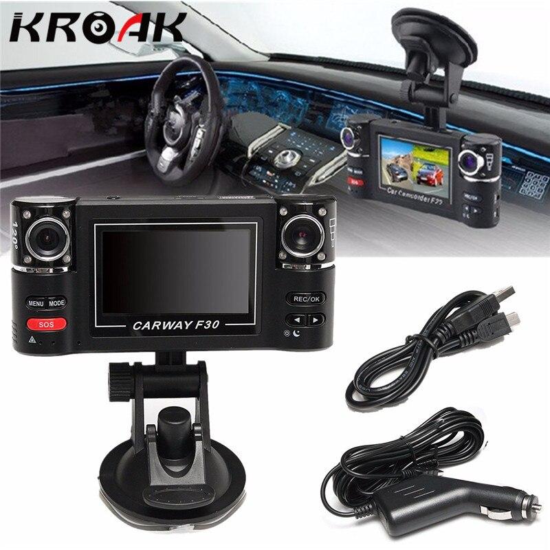 Full HD 1080 P Câmera Do Carro Gravador Dvr Carro de Lente Dupla Dvr 2.7 Polegada 2 Dashcam Câmeras de Vídeo Digital Câmera Dupla Traço Noite visão