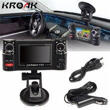 Full HD 1080 P автомобиля Камера Регистраторы Автомобильный видеорегистратор Двойной объектив DVR 2.7 дюймов 2 Камера S dashcam цифровой видео Dual тире Камера Ночное видение