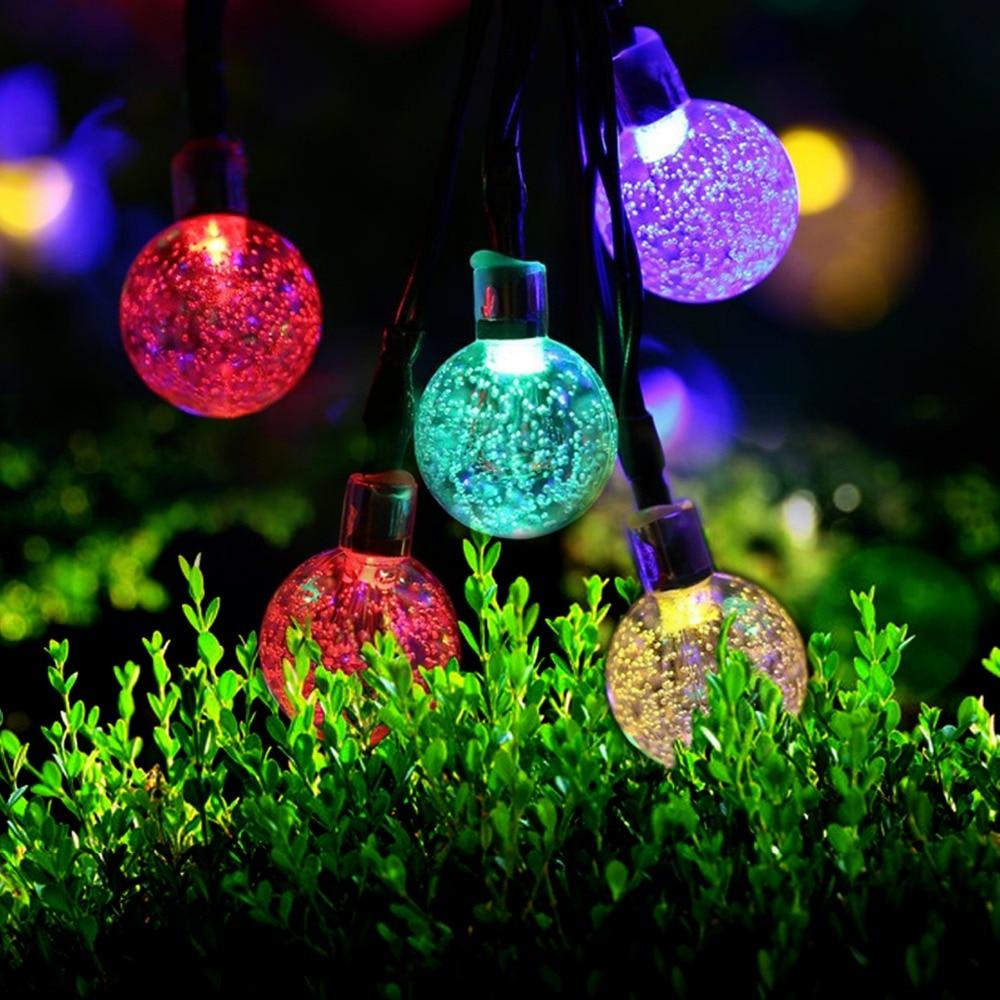 5m 30 Led Ball Solar String Light Garden Christmas Lights Wedding Decor Garland Water