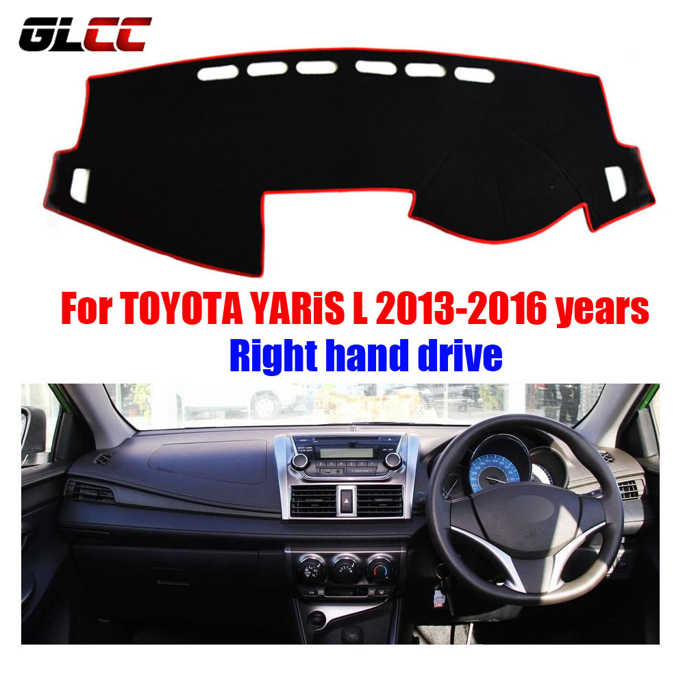 Car dashboard cover mat for toyota yaris l 2013 2016 years right hand drive dashmat