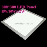 2014 Real Luminarias Para Sala 300x300 Led Panel Lights 8w Square Bulb for Living Room Kitchen Ac85v 265v 640lm free Shipping