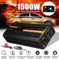 1500W Pure Sine Wave Inverter DC12V/24V/48V To AC220V 50HZ Power Converter Booster For Car Inverter Household DIY