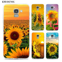 Transparent Soft Silicone Phone Case The most beautiful sunflower For Samsung Galaxy j8 j7 j6 j5 j4 j3 Plus 2018 2017 Prime все цены