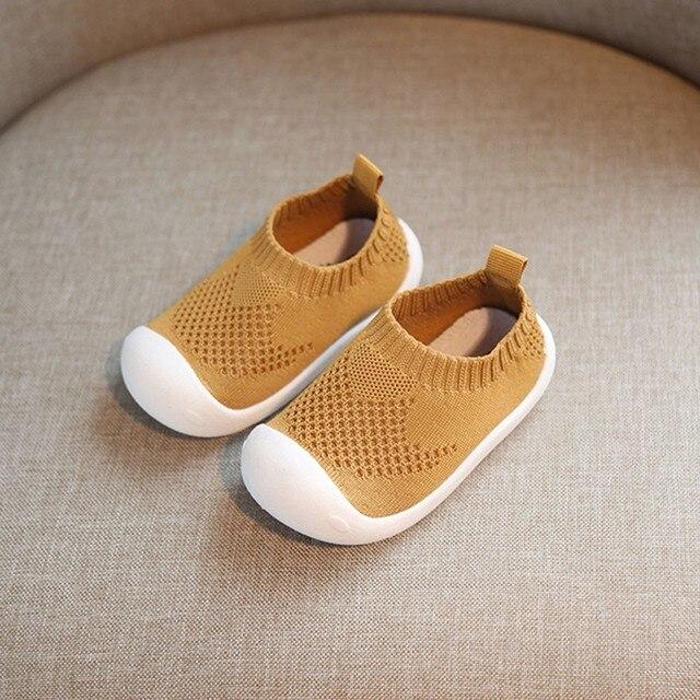 ילדים רצים ילדי נעלי נעלי ספורט בנים בנות לנשימה לסרוג גרבי סניקרס בחוץ רך נעליים יומיומיות # XTN