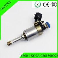 16600 1KC0A 0261500092 Fuel Injector For Nissan Juke 2011 2014 1.6L MR16DDT 16600 1KC0A 166001KC0A