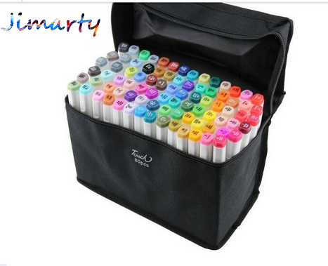 Artist Double Headed Marker Set 60colors Design Mark Pen Animation Design Paint Sketch Copic Markers for Drawing  paint brush