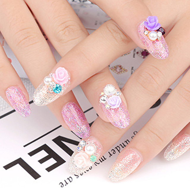 1pc Nail Art Decorations Japanese Resin Flower Jewelry 3d Manicure ...