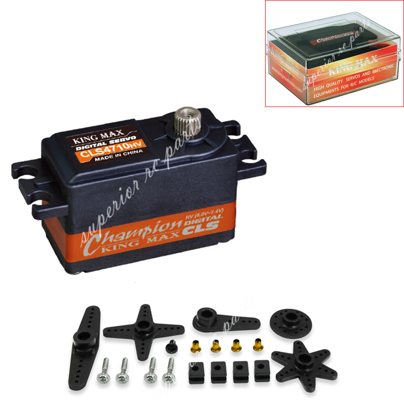 KINGMAX CLS4710HV 47g 47g 12kg.cm High Voltage Low Profile Servo Metal Gear For RC Car jx pdi 5521mg 20kg high torque metal gear digital servo for rc model