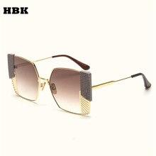 65b15bcd2f222 HBK Geometria Moda Óculos De Sol Das Mulheres Marca Designer Sombra  Quadrado Da Arte Moderna do