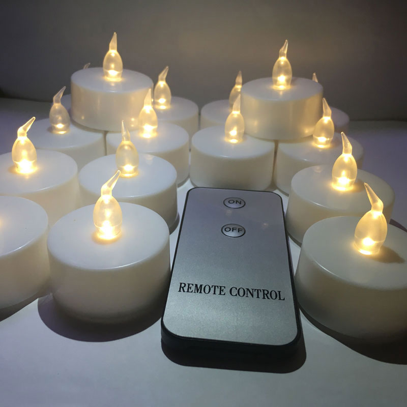16pcs Candle1pcs Remote White Flickering Led Candle Light Remote