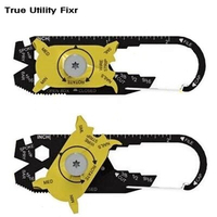 Gadget Portable EDC Mini Utility FIXR 20 In 1 Pocket Multifuction Tool Keychain Outdoor Camping Key