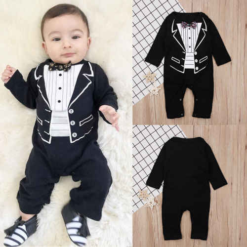 6fce9dcf8e3a Detail Feedback Questions about 1PCS Newborn Baby Boy Striped Formal ...