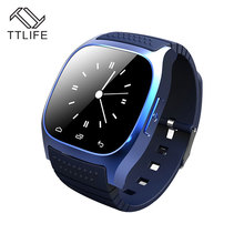 TTLIFE M26 Waterproof Smart Bluetooth Watch Smartwatch M26 with LED Display Music Player Pedometer for Android IOS Mobile Phones(China)