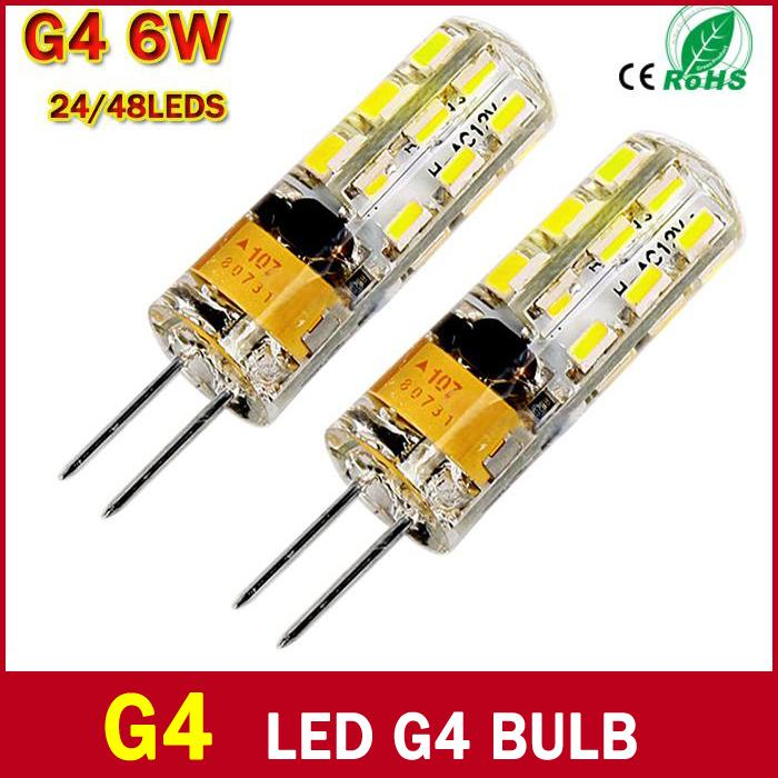 High Power G4 LED 3W 6W  AC /DC 12V  24/48 LED Chips Replace 30W Halogen 360 Degree Chandelier Lamp Bulb Spotlight