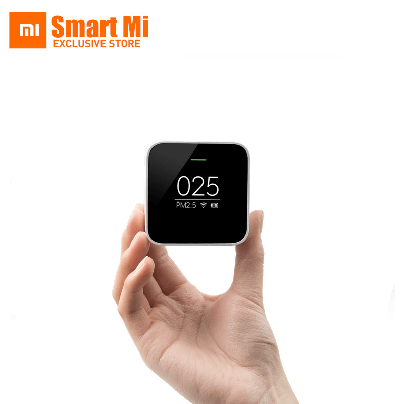 Newest Original Mi Xiaomi PM2.5 Smart Air Quality Monitor Detector Use With Air Purifier Air Quality Monitoring original xiaomi smart mi air purifier air cleaner
