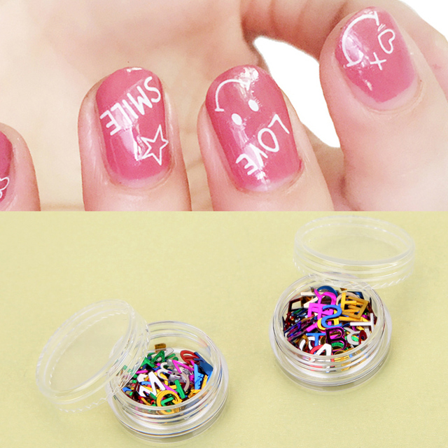 12 Kleurdoos 26 Engels Alfabetten Nail Art Stickers Diy Nail Art