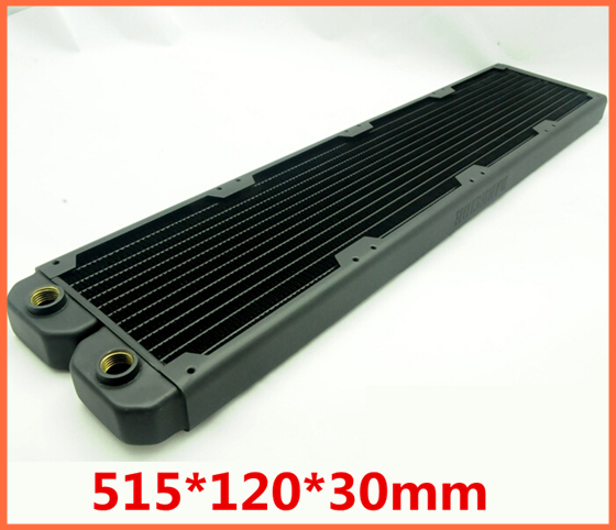 R480 515*120*30mm Efficient heat exchanger copper fin intensive radiator Computer water Liquid cooling cooler Heat sink 75 29 3 15 2mm pure copper radiator copper cooling fins copper fin can be diy longer heat sink radiactor fin coliing fin