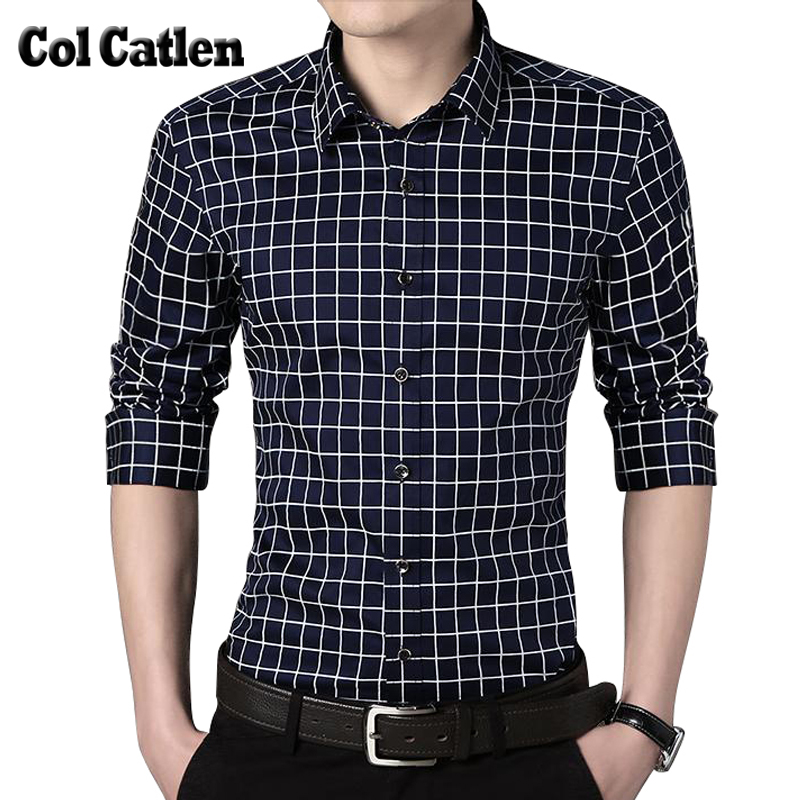 Fashion Plaid Shirt Men Autumn Cotton Long Sleeve Men's Shirts Casual Slim Fit Blouse for Male Large Size 5XL  Camisa Masculina