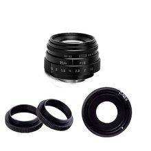 Fujian 35mm f/1.6 CCTVII camera lens for Sony NEX E-mount camera & Adapter bundle new