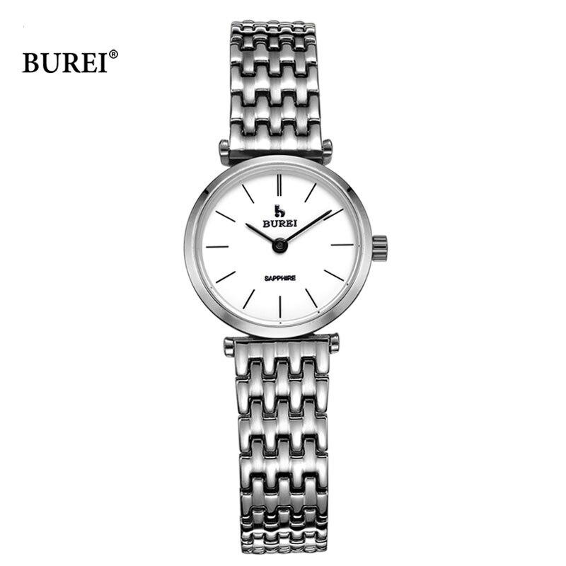 BUREI 2017, женские часы, Топ бренд, роскошные женские кварцевые наручные часы, женские модные водонепроницаемые часы, женские часы, Relogio Feminino