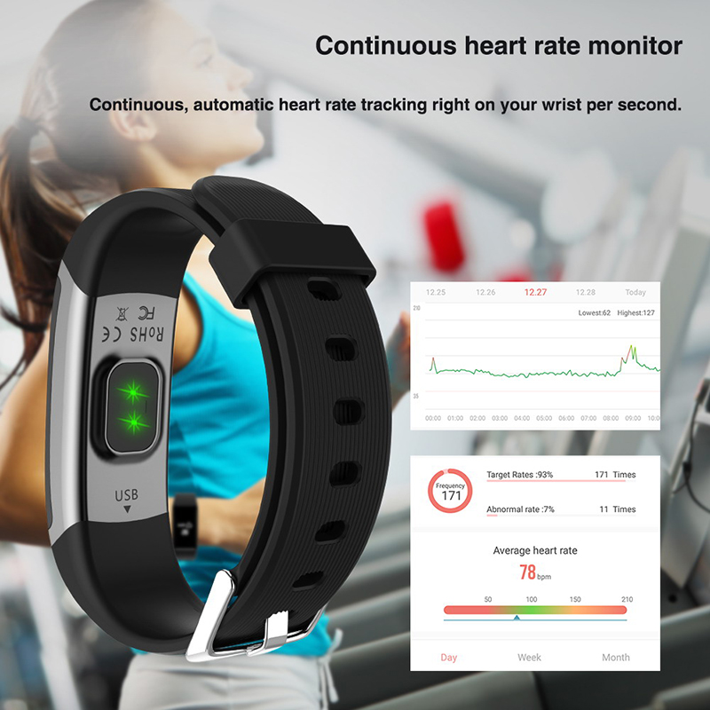 Smart wristband heart monitor fitness activity tracker color screen smart bracelet women men smart watch passometer tacker Hot-in Smart Wristbands from Consumer Electronics