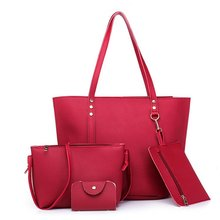4pcs/set Women Leather Handbags