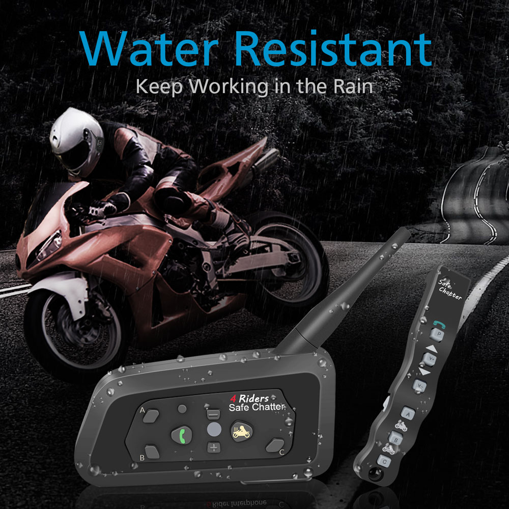 34dfbd2d386 1pcs Lexin A4 BT Interphone with Remote Controller for 4 Riders Bluetooth  Motorcycle Intercom 1000M Intercomunicador moto-in Helmet Headsets from ...