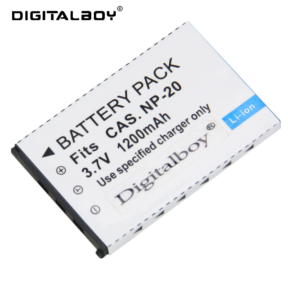 1Pcs NP-20 NP20 NP 20 1200mAh 3.7V Li-ion Camera Battery For CASIO EX-S880 EX-Z6 EX-S880RD Exilim Card EX Zoom Series echo 551dv page 2