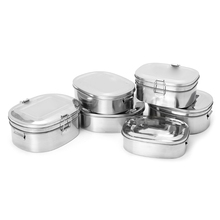 c58d46ed2 Best Quality Stainless Steel Square Lunch Box Bento Food Picnic Container  Travel 1 2 Layer