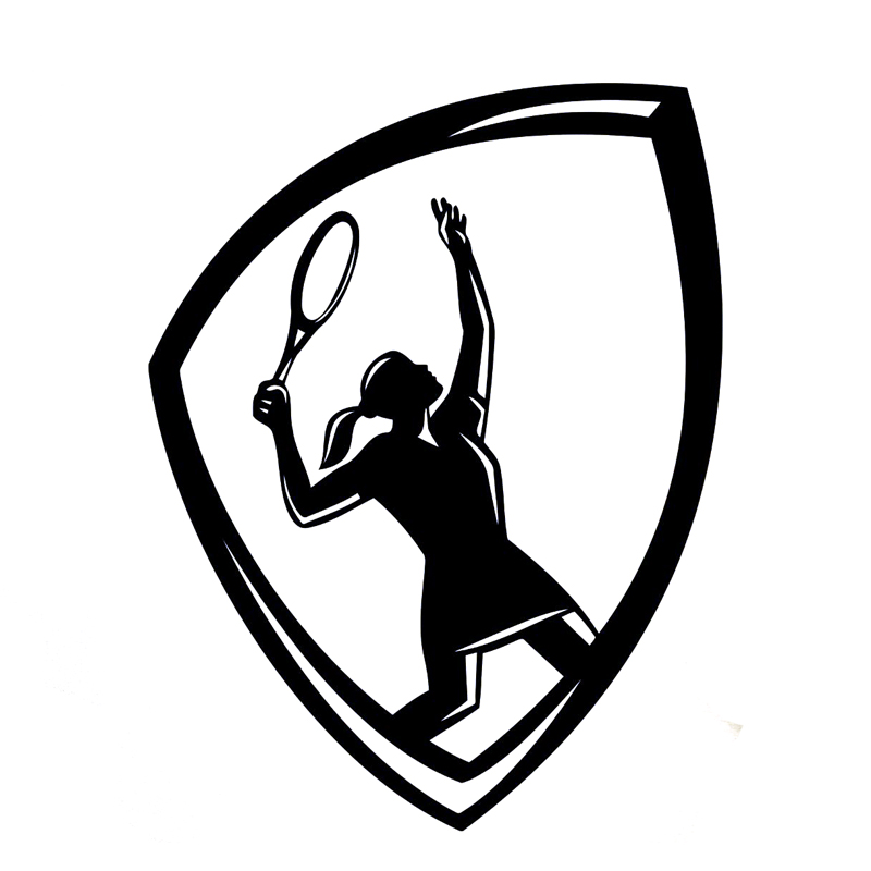 11.6CM*15.1CM Interesting Tennis Logo Sports Vinyl Car