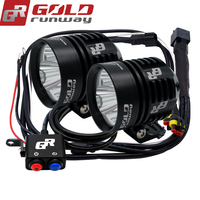 A Pair GOLDRUNWAY Motorcycle Led Head Spotlight 3 U2 Led Chip 30W 3000lumens 3mode Waterproof LED