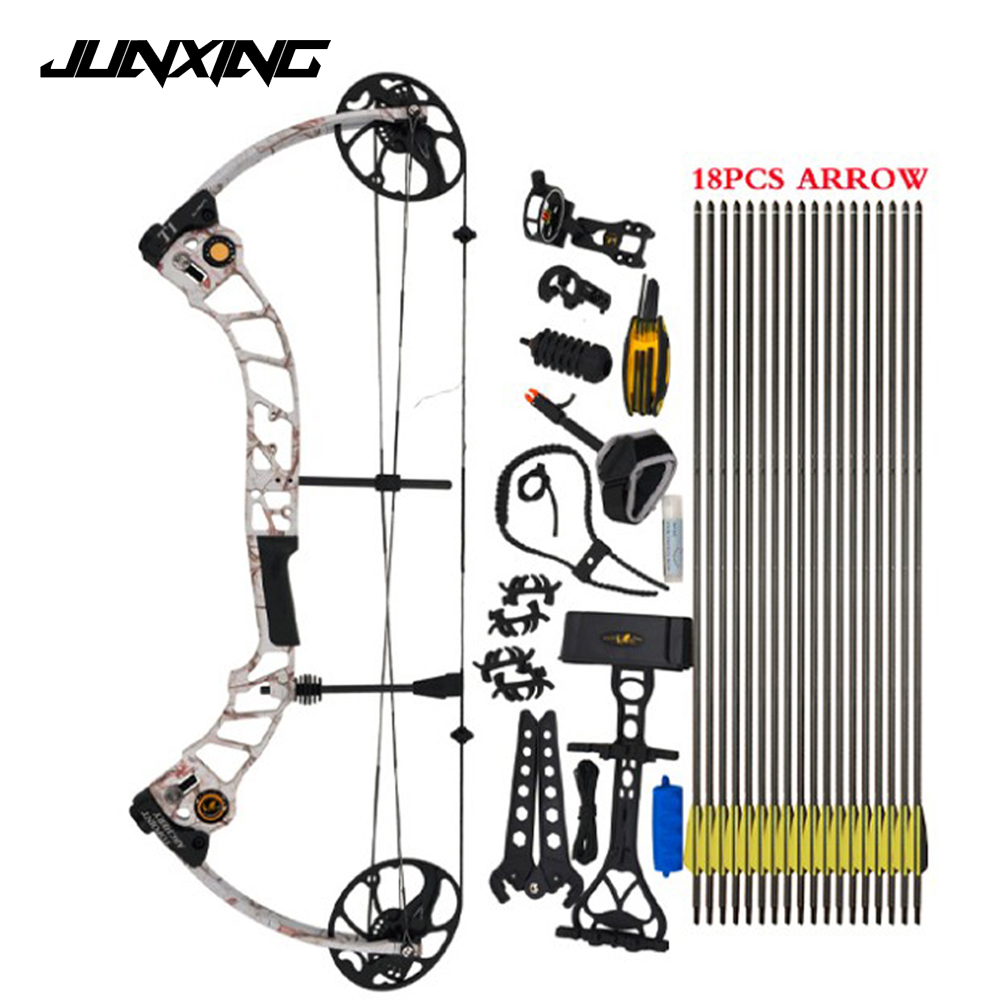 High Quality T1 Compound Bow Set 17-70 Lbs Draw Weight 19-30 Inches Draw Length 320fps IBO Archery Equipment for Shooting 50 hanks high quality mongolia stallion white violin bow hair 6 grams hank white horse tails 32 inches