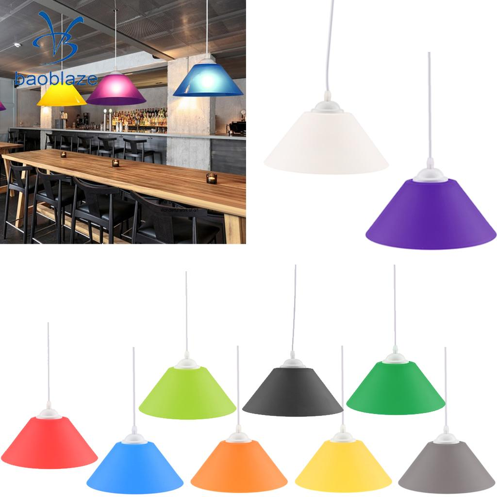 E27 Cone Shaped Ceiling Pendant Light Shade Lampshade Easy Fit Shades Decor ...