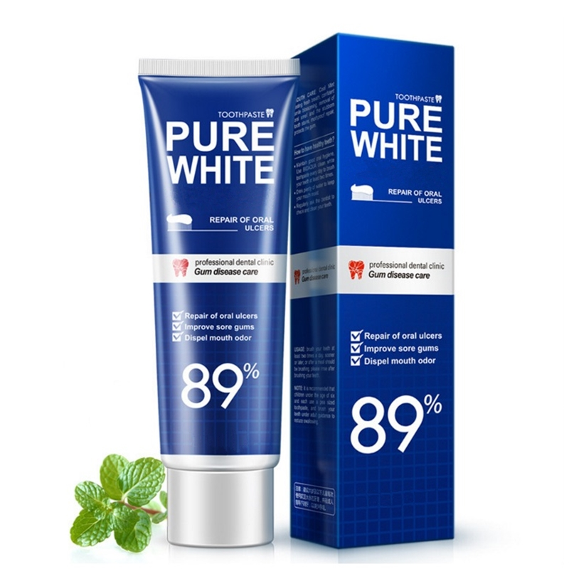 YBOYA Fresh Cool Toothpaste Mint Leaves Gingival Toothpaste Oral Tooth Cleaning,Remove Teeth Stains Fresh Breath Care Enamel. image