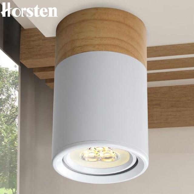 Horsten Nordic Kayu Jepang Downlight Led Lampu Modern 3 W Ruang Tamu R Tidur Langit