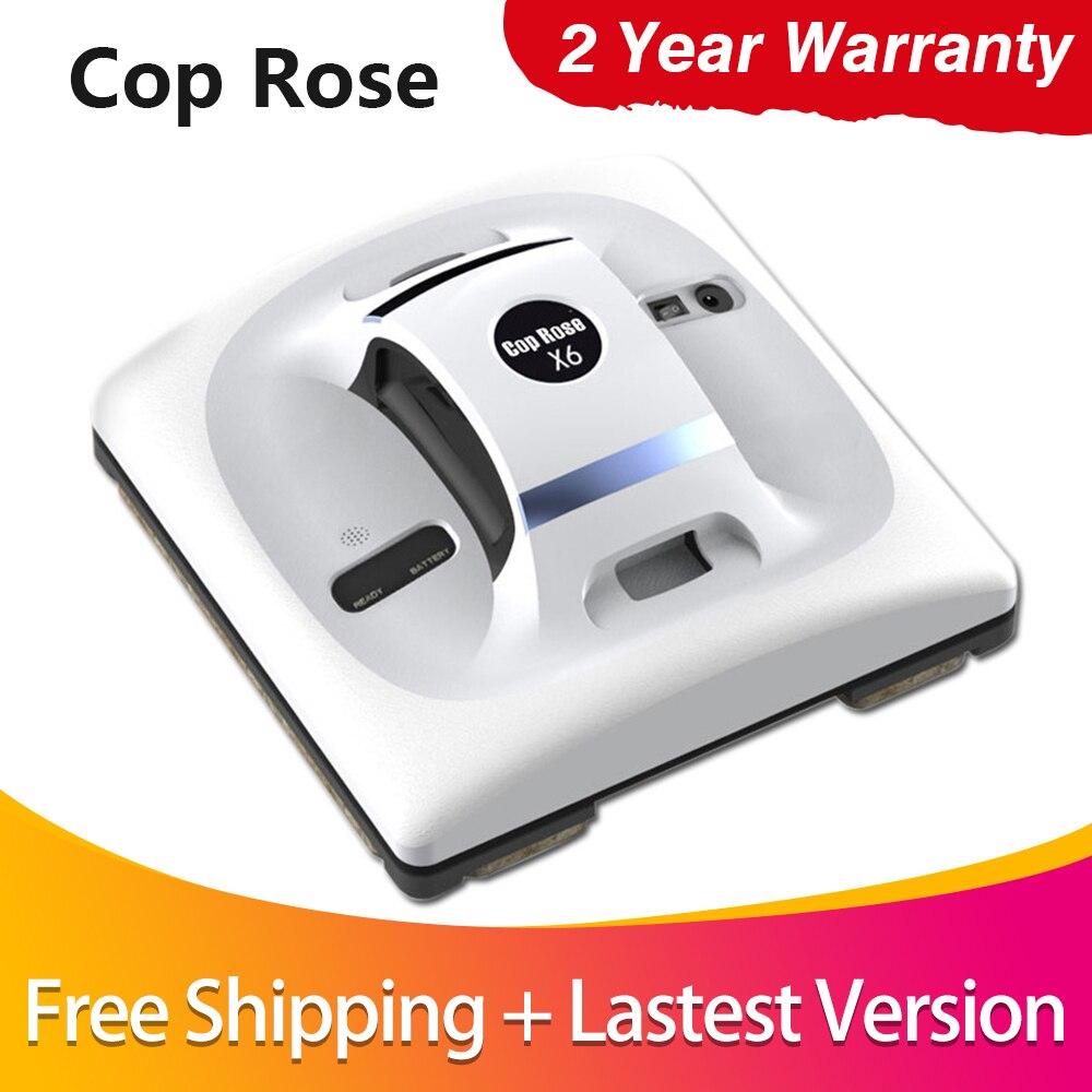 COP ROSE X6 Automatique Fenêtre De Nettoyage Robot, intelligente Rondelle, Télécommande, anti chute UPS Algorithme Verre aspirateur Outil
