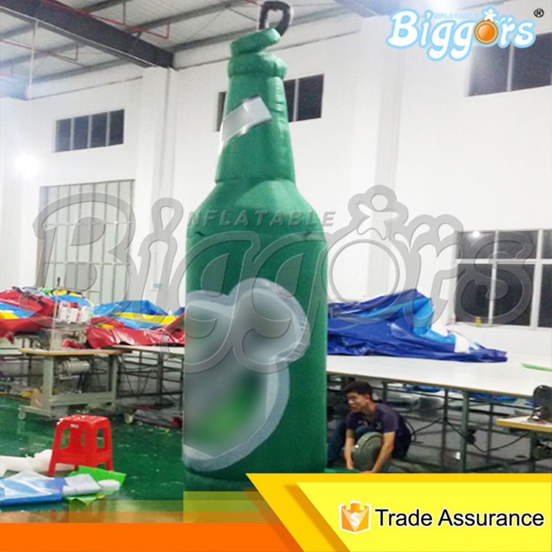 Professional Manufacturer Activities Promotion Outdoor Giant Air Inflated Bottle Inflatable Beer Bottle Shape With Blowers manufacturer of spot sales promotion