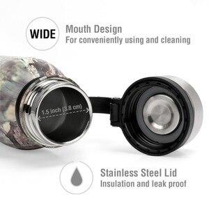 Image 5 - 苔状オーク 20.5 オンス真空断熱水筒ステンレス鋼広口漏れ防止二重壁コーラ形状ボトル迷彩