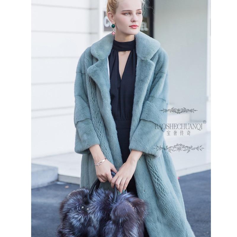 Manteau Renard Vison Naturelle 2019 Outearwear Trimestre Fox Nouveauté Lvchi Neuf Manches De Couleur Bleu Hiver Réel Femmes Manteaux Fourrure Silver 6fxdvF