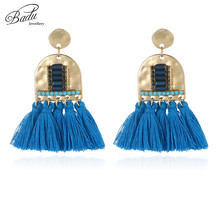 Badu Vintage Ethnic Earring 6 Colors Tassel Earrings Women Fashion Jewelry Gold Alloy Original Design Wholesale Handmade