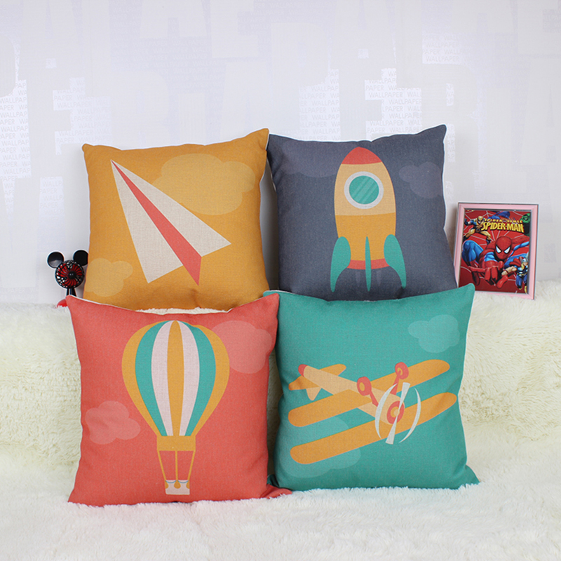 45 *45cm Children aerospace colorful pillow cover For Sofa Seat Luxury Home Decor fashion scandinavian style ...