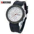 Cuarzo Relojes de Los Hombres CURREN Marca Reloj de Pulsera de Silicona Reloj de Los Hombres Casuales Con Fecha Reloj Hombre Reloj Relogios masculinos
