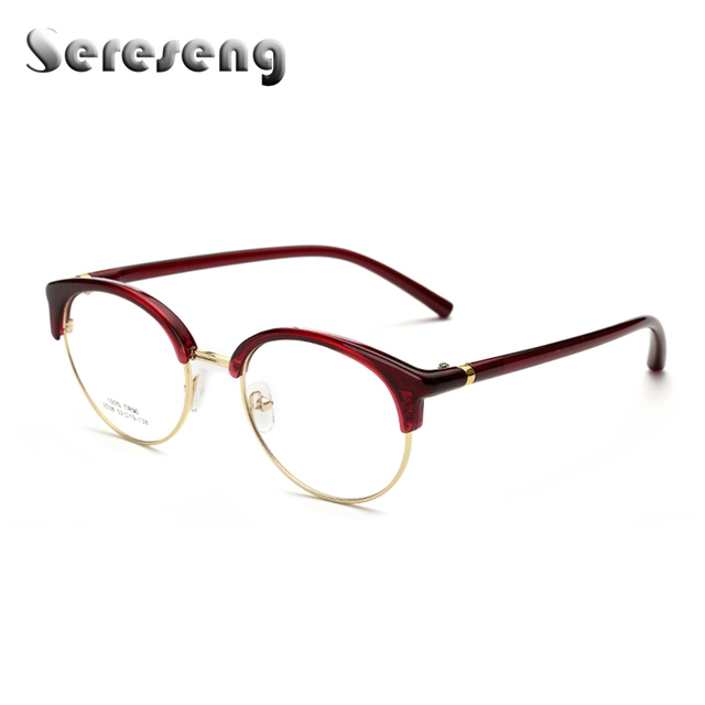52056ca1bf 2017 Fashion Women Clear Lens Eyewear Unisex Retro Clear Glasses Oval Frame  Metal Temples Eyeglasses 2563