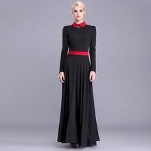 2017 spring new women's clothing dresses fashion Peter pan Collar slim full dress Long sleeve Bottom expansion long dress Female