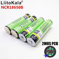 LiitoKala 18650 bateria 3400 mAh 3.7 V Rechargebale Li-ion originais NCR18650B PCB bateria Protegido 18650 3400