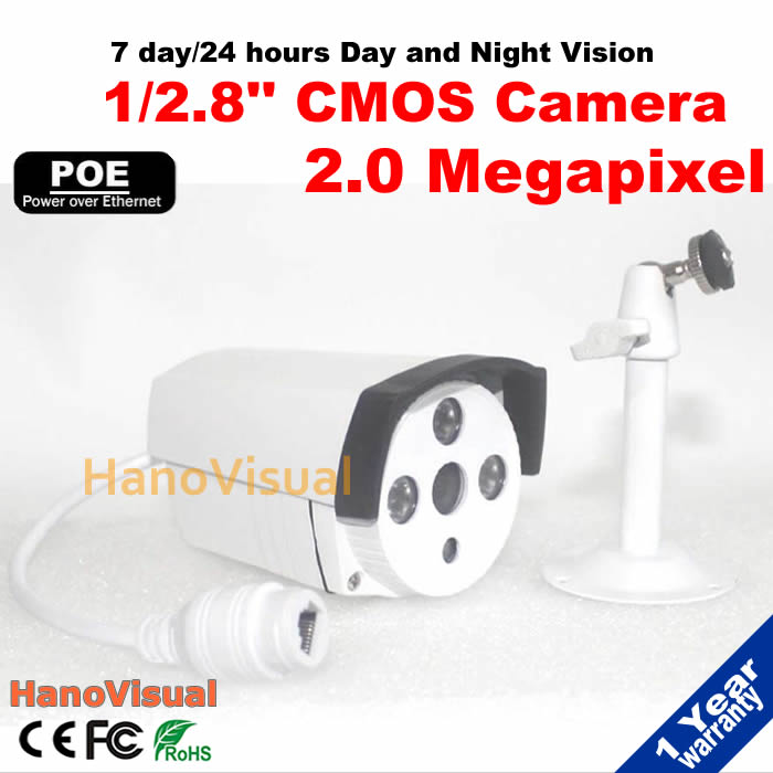 ФОТО Full HD ONVIF P2P 2.0MP POE IP Camera 1080P Outdoor Waterproof Night Vision Remote View Power Over Ethernet Network CCTV Camera