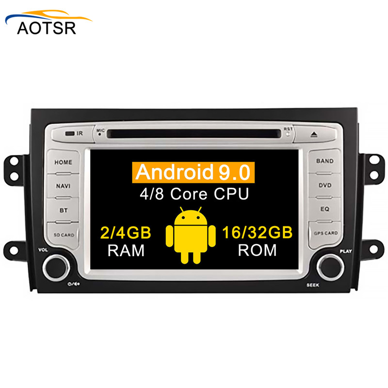 <font><b>Android</b></font> 9.0 car gps dvd player for <font><b>Suzuki</b></font> <font><b>SX4</b></font> 2006 2007 <font><b>2008</b></font> 2009 2010 2011 2012 2013 car radio stereo gps navigation head unit image