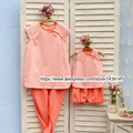 Children Clothes Mother Daughter stripe suit cotton shirt and pants,2-10 years old Child Girl clothes, Women plus Large size 4XL