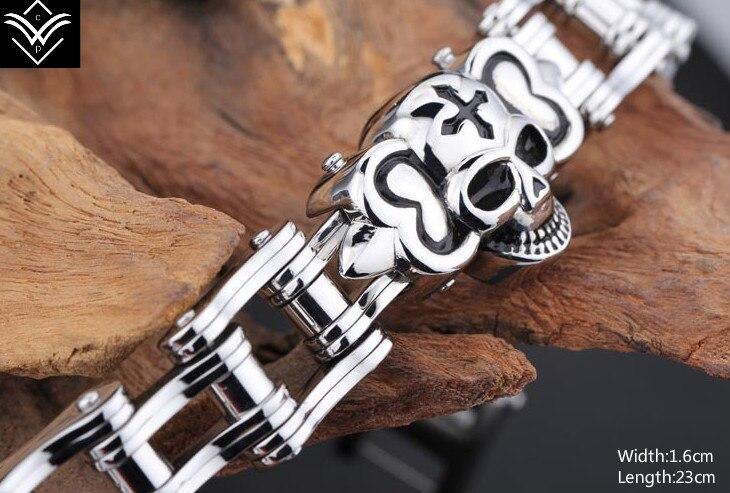 Fashion Vintage Style Titanium Bike Chain Skeleton Male Bracelet Hot Sale